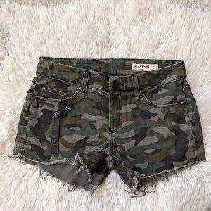 Blank NYC Camo Cut Off Shorts 25